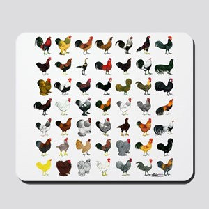 49 Roosters Mousepad