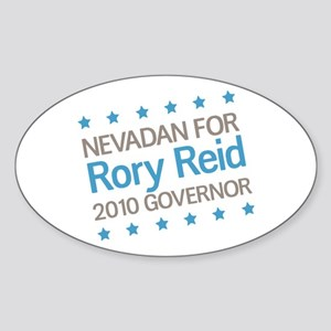 Nevadan for Reid Sticker (Oval)