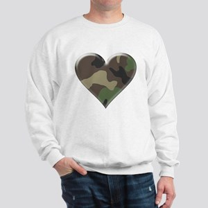 Camouflage Heart Military Love Sweatshirt