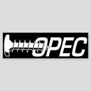 2-screw opec black sticker Bumper Sticker