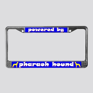 Powered by Pharaoh Hound License Plate Frame