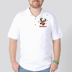 Merry Christmas Reindeer Golf Shirt