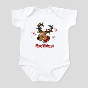 Merry Christmas Reindeer Infant Bodysuit