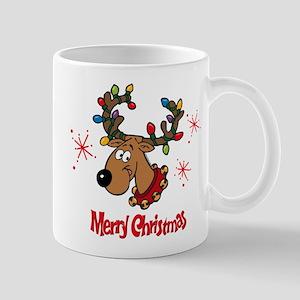 Merry Christmas Reindeer Mug