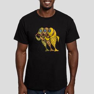Singing Fish Men's Fitted T-Shirt (dark)