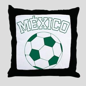 Mexico Futbol Throw Pillow