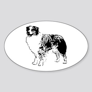 Australian Shepherd Oval Sticker