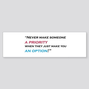priority-option Sticker (Bumper)