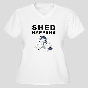 Shed Happens Women's Plus Size V-Neck T-Shirt