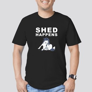 Shed Happens Men's Fitted T-Shirt (dark)