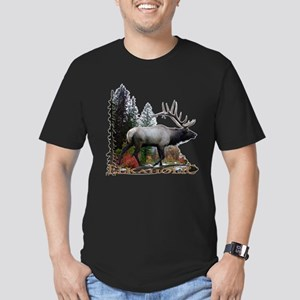 Elkaholic Men's Fitted T-Shirt (dark)