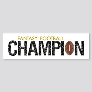 Fantasy League Champion Sticker (Bumper)