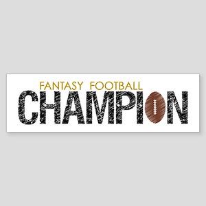 Fantasy League Champion Sticker (Bumper)