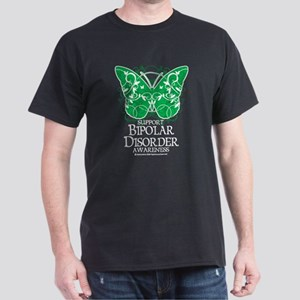 Bipolar Disorder Butterfly Dark T-Shirt