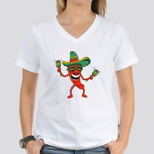 Hot Mexican Pepper Women's V-Neck T-Shirt