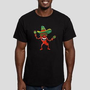 Hot Mexican Pepper Men's Fitted T-Shirt (dark)