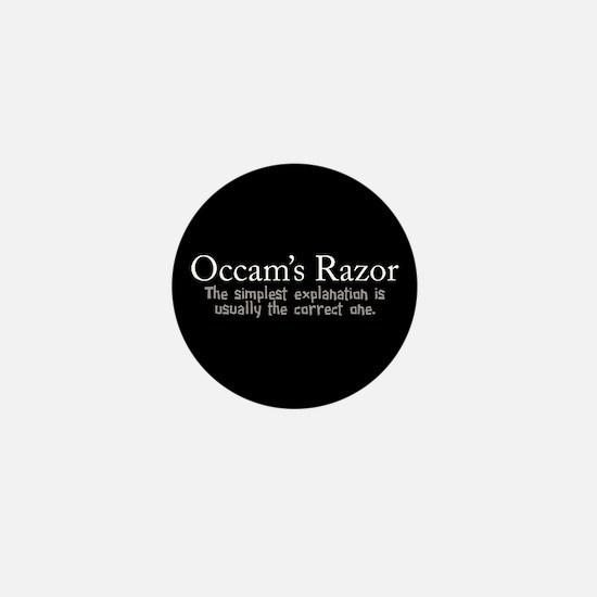 Occam's Razor Mini Button