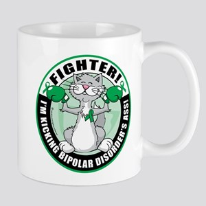 Bipolar Disorder Fighter Cat Mug