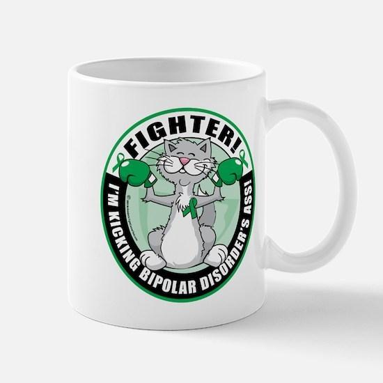 Bipolar Disorder Fighter Cat Mug
