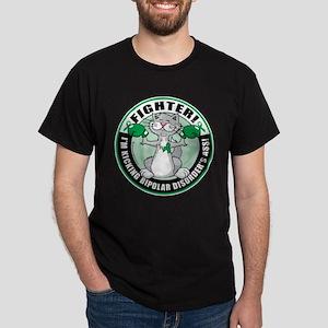 Bipolar Disorder Fighter Cat Dark T-Shirt