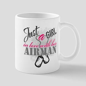 Just a girl Airman Mugs