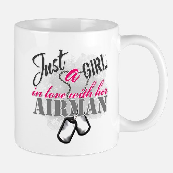 Just a girl Airman Mugs