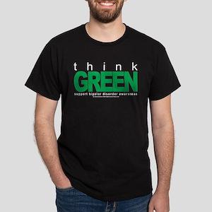 Bipolar Disorder Think Green Dark T-Shirt