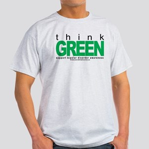 Bipolar Disorder Think Green Light T-Shirt
