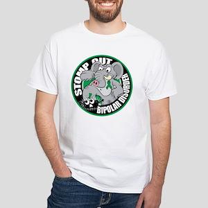 Stomp Out Bipolar Disorder White T-Shirt