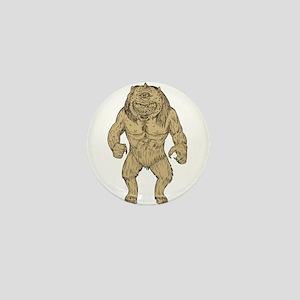 Cyclops Standing Drawing Mini Button
