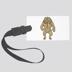 Cyclops Standing Drawing Luggage Tag