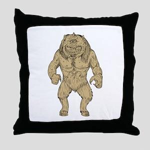 Cyclops Standing Drawing Throw Pillow