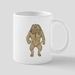 Cyclops Standing Drawing Mugs