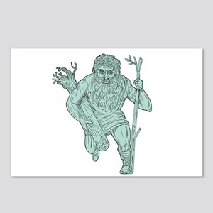 Leshy Tree Runk Staff Drawing Postcards (Package o
