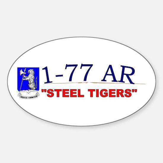 1st Bn 77th AR Sticker (Oval)