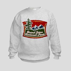 Grand Teton Mountains Kids Sweatshirt