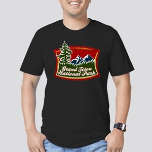 Grand Teton Mountains Men's Fitted T-Shirt (dark)