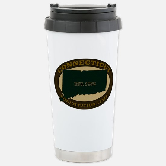 Connecticut Est. 1788 Stainless Steel Travel Mug