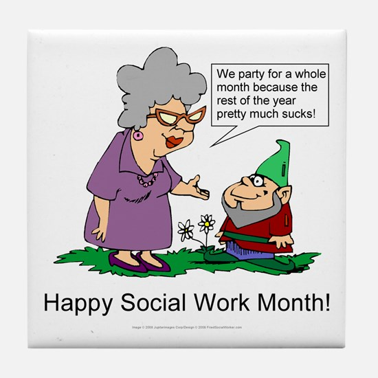 Party For A Month Tile Coaster