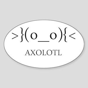 Axolotl Emoticon Sticker (Oval)