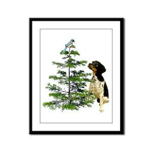 Bird Dog Tree Framed Panel Print