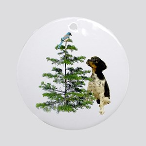 Bird Dog Tree Ornament (Round)