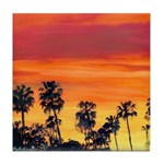 Red Sunset California Tile Coaster