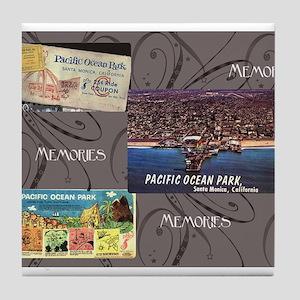 Pacific Ocean Park Memories Tile Coaster