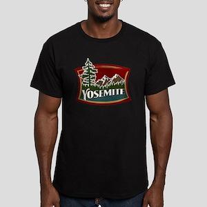 Yosemite Mountains Men's Fitted T-Shirt (dark)