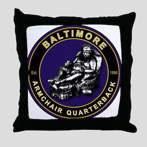 Armchair Quarterback - BAL Throw Pillow