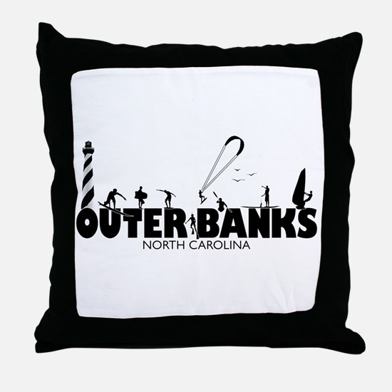 OBX Watersports Throw Pillow