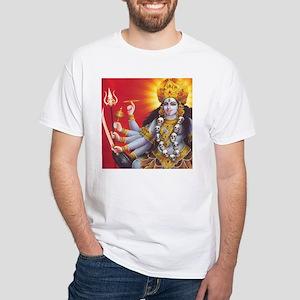 Goddess Kali: Hinduism: White T-Shirt