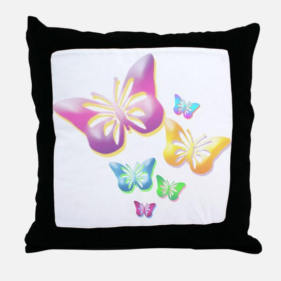 Butterfly Colors Throw Pillow