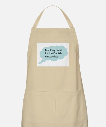 first they came - bubble BBQ Apron